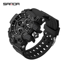2020 أفضل ماركة فاخرة SANDA ساعة رجالي ساعات رياضية للرجال متعددة الوظائف صدمة الرقمية العسكرية الساعات الذكور ساعة reloj hombre