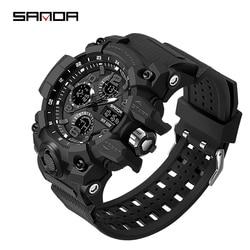 2020 Top Luxury Brand SANDA Men's Watch Men Sport Watches Multifunction Shock Digital Military Watches Male Clock reloj hombre