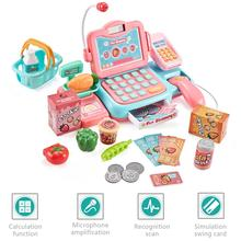 Mini Analog Cashier Toy Set Supermarket Checkout Counter Rol