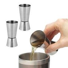 15/30ml ou 25/50ml aço inoxidável cocktail shaker medida copo duplo tiro bebida espírito medida jigger cozinha gadgets barra ferramentas