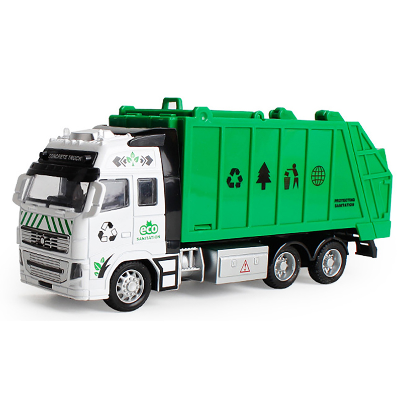 1:32 garbage truck high quality toy car as birthday present juguete educational clean trash car kids toys gifts