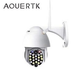 Aouerkk wodoodporna kamera monitoringu wi-fi 1080P 2MP PTZ zewnętrzna kamera IP bezprzewodowa sieć CCTV nadzór wykryty ruch