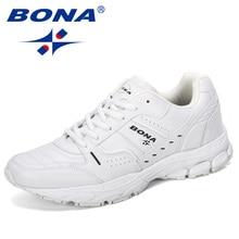 بونا 2019 جديد مصمم حار نمط رياضة الرجال في الهواء الطلق المشي الركض مدرب رياضية الدانتيل متابعة الرياضة تشغيل حذاء رجل comfortabe