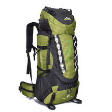 80L Outdoor Water Resistant Sport Backpack Hiking Bag Camping Travel Pack Mountaineer Climbing Sightseeing Hike outdoor water resistant backpack bag black