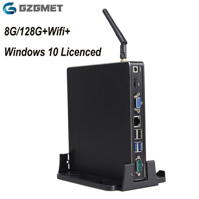 Lizenzierte Windows 10 Mini Pc Wifi Quad Core Intel Computer Büro Schule Gaming Desktop Pc Motherboard Home Multimedia