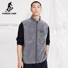 Fleece Vest Jackets Men Black Warm Autumn Gray Pioneer Camp XLW023010 Comfortable