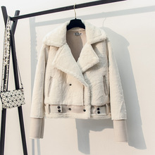 SWYIVY Faux Fur Coat Patchwork Soft Suede Women Autumn Short Warm Basic Jacket Female Fluffy Winter Outwea