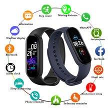 M5 pacote caixa de papel relógio inteligente bluetooth rastreador de fitness m5 smartband pedômetro chamada lembrete freqüência cardíaca relógio para ios android