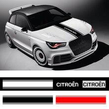 1pc Car Decal Auto Hood Covers Vinyl Racing Sticker Car Stlying for Citroen C4 C1 C5 C3 C6 C5 C8 DS C ELYSEE VTS C4l Xantia DS3