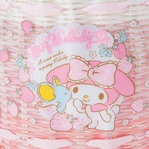Image 4 - かわいい漫画リトルツインスターズマイメロディプラスチック織籐収納バスケット化粧品雑貨食料品オーガナイザーバスケットバケツ