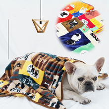 Dog Cushion Shower-Towel Pet-Blanket Sleeping-Cover Puppy-Kitty Home-Rug Cute Bed Flannel