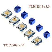 5Pcsต้นไม้สองTMC2208 V3.0 Stepper Motor Driver 3Dชิ้นส่วนเครื่องพิมพ์TMC2130 TMC2209สำหรับSKR V1.3 V1.4 MKS GENL ramps 1.4 MINI E3