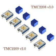 5pcs שני עצי TMC2208 V3.0 מנוע צעד נהג 3D מדפסת חלקי TMC2130 TMC2209 עבור SKR V1.3 V1.4 MKS GENL רמפות 1.4 מיני E3