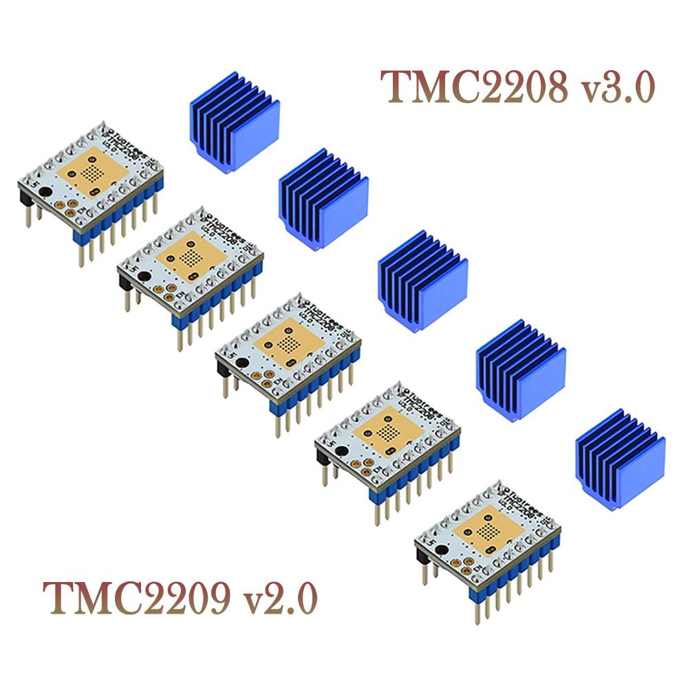 Драйвер шагового двигателя Twotrees TMC2208 V3.0, запчасти для 3D-принтера TMC2130 TMC2209, для SKR V1.3 V1.4 MKS GENL Ramps 1,4 MINI E3, 5 шт.