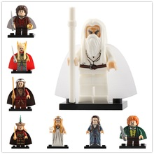 8Pcs/Set The Lord Of the Rings LegoING Minifigured Thranduil Elrond Galadriel Building Blocks Action Figures Toys For Children