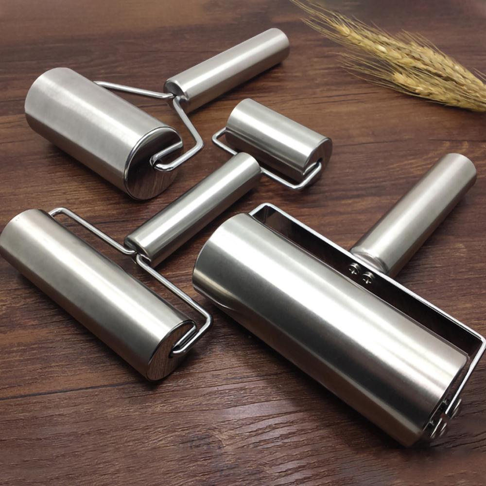 Aço inoxidável rolo de rolo de pizza fondant bakers rolo de rolo de rolo de rolo de rolo de rolo de rolo de rolo de rolo de rolo de cozinha para assar massa de pizza