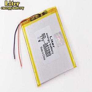 Image 3 - 357090 TX52 TZ41 TZ42 TZ43 TZ46 TZ45 TZ53 TZ70 TZ72 TZ736 TX01 TZ02 TZ01 tablet bataryası iç 4000mah 3.7V polimer li ion
