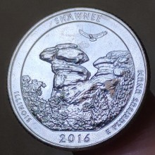 24mm National Park, Real Genuine Comemorative Coin,Original Collection