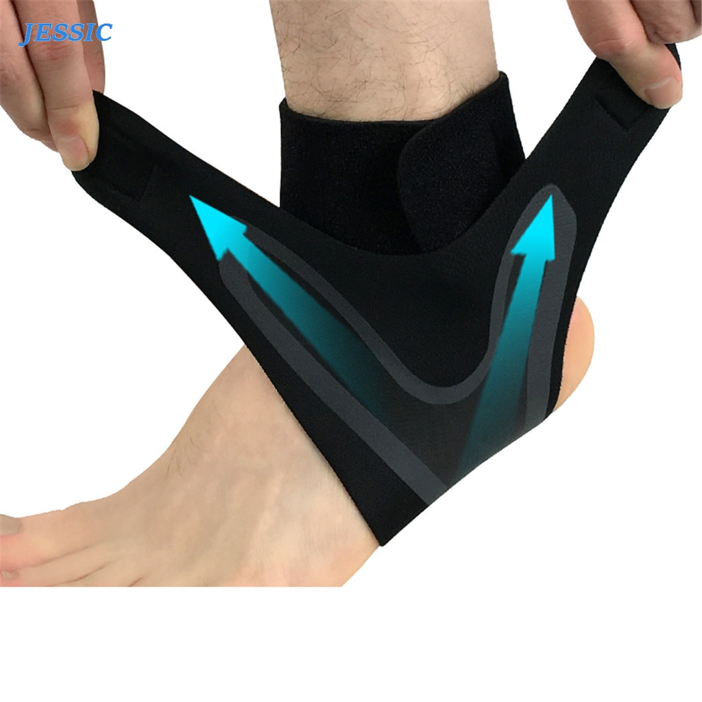 JESSIC Adjustable Elastic Ankle Sleeve Elastic Ankle Brace Guard Foot Support Sports Ankle Support Weights