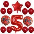 14 шт./лот «Человек-паук», красная человек шар 30 дюймов шара с цифрой Spiderhero вечерние надувные фольгированный шар с гелием на день рождения веч...