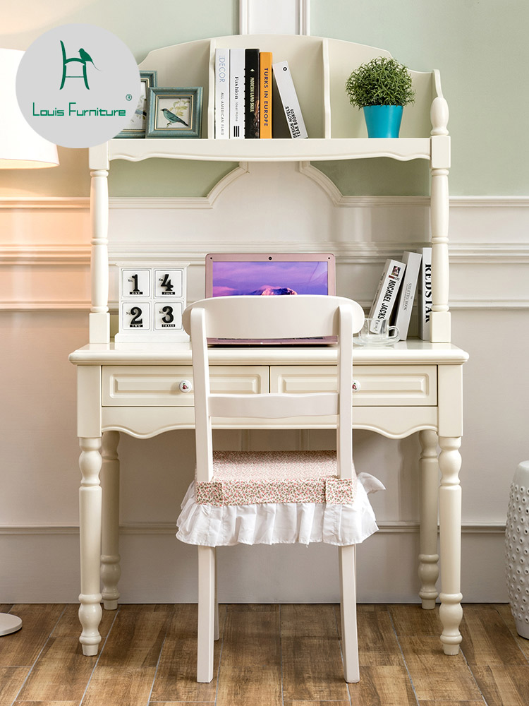 Louis Fashion Children Tables Small Desk With Bookshelf Computer One Meter Bedroom Simple Household Solid Wood Girl Boy S Aliexpress