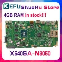 KEFU For ASUS X540SA X540S F540S CPU/N3050 4GB/Memory laptop motherboard tested 100% work original mainboard цена и фото