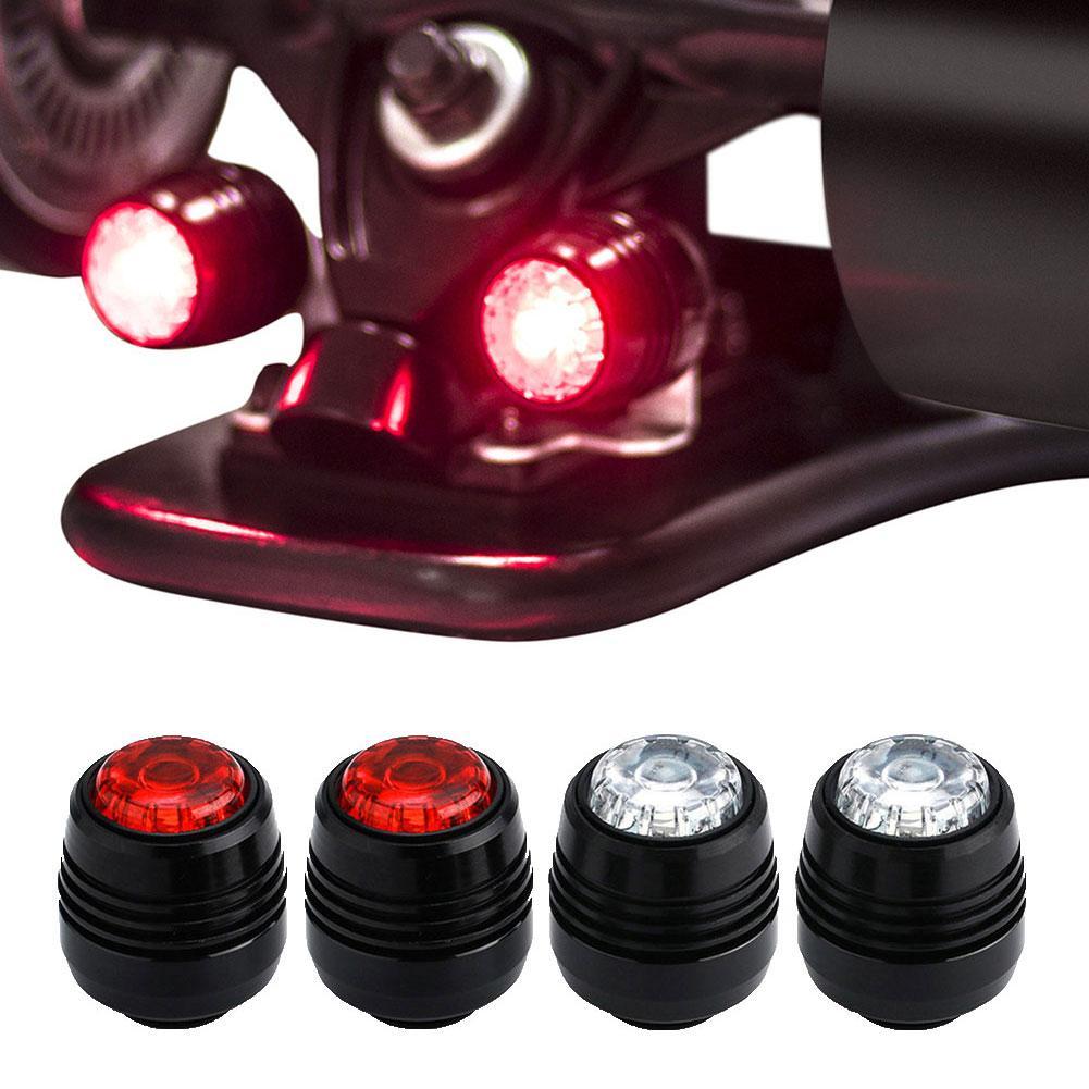 4Pcs Four Wheel Longboard Lights Warning LED Lights Skateboard LED Lights Night Warning Lamp For Longboard Electric Scooter