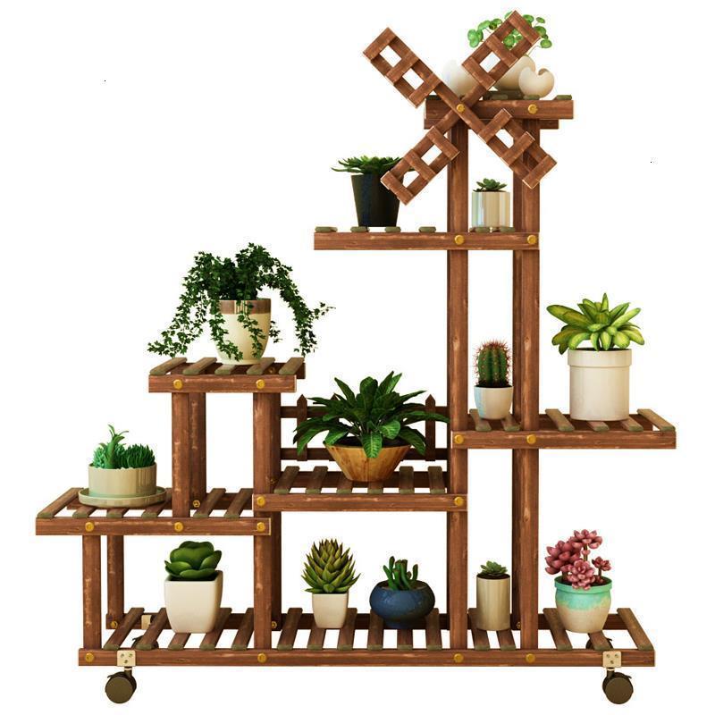 For Estanteria Para Plantas Table Saksi Standi Balkon Wood Stand Dekoration Rack Stojak Na Kwiaty Balcony Flower Plant Shelf|Plant Shelves| |  - title=