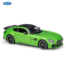 WELLY 1:24 Mercedes-Benz AMG GT R sports car simulation alloy model crafts decoration collection toy tools gift