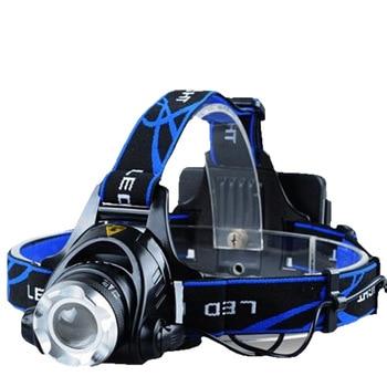 Светодиодный индукционный зум налобный фонарь T6 интенсивный светильник для зарядки светодиодный светильник для рыбалки на открытом возду...