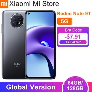 Globale Vesion Xiaomi Redmi Hinweis 9T 5G Smartphone 4GB RAM 64GB / 128G ROM Dimensity 800U Dual 5G SIM Karten 5000mAh Batterie NFC