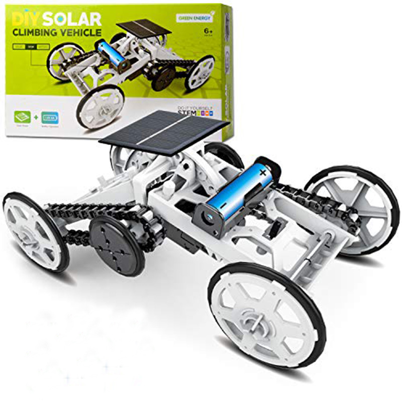 Kids Toys Car Solar Power Car 4-Wheel Car Kit Climbing Vehicle Toy Car DIY Assembly Toys Educational Gift Toys For Children