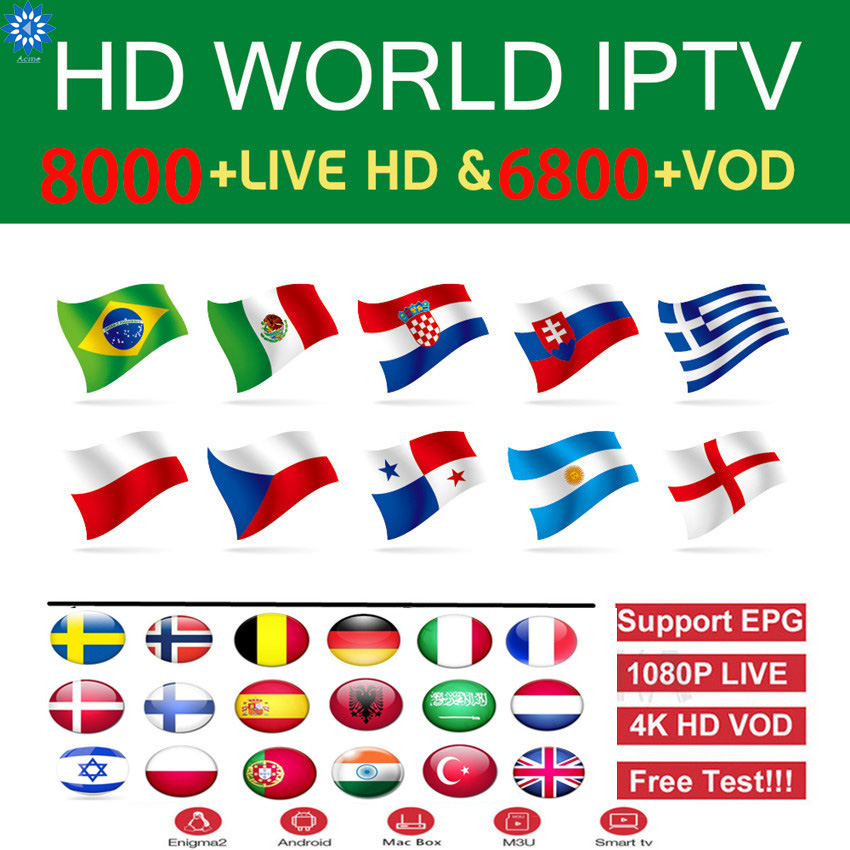 FULL HD IPTV Subscription M3U Mag Sports IPTV Europe French Italain Polish UK Germany Arabic Iptv Code Sports US Adults Channel