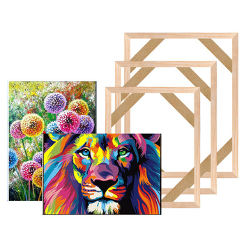 Diamond Painting Wooden Frame For Canvas Oil Wood DIY Picture Photo Bar Wall Art