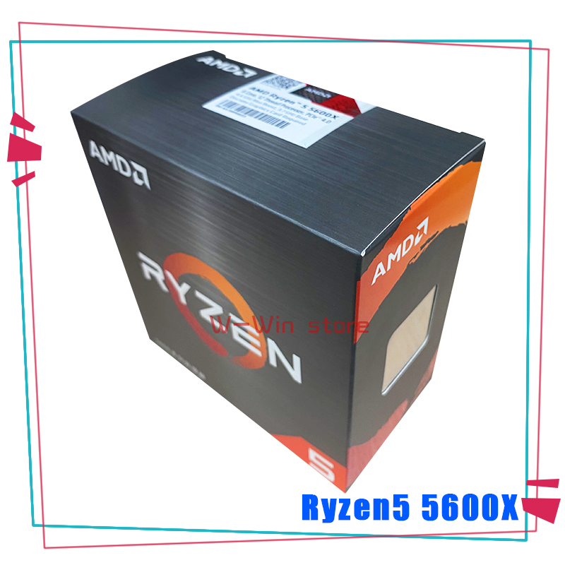 NEW AMD Ryzen 5 5600X R5 5600X 3.7 GHz Six-Core twelve-Thread 65W CPU Processor L3=32M 100-000000065 Socket AM4 with cooler fan 1