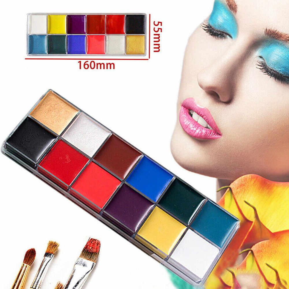 12 สีใบหน้าสีน้ำมัน Art Make Up 6pcs ปากกาปาร์ตี้ฮาโลวีนชุด EY669