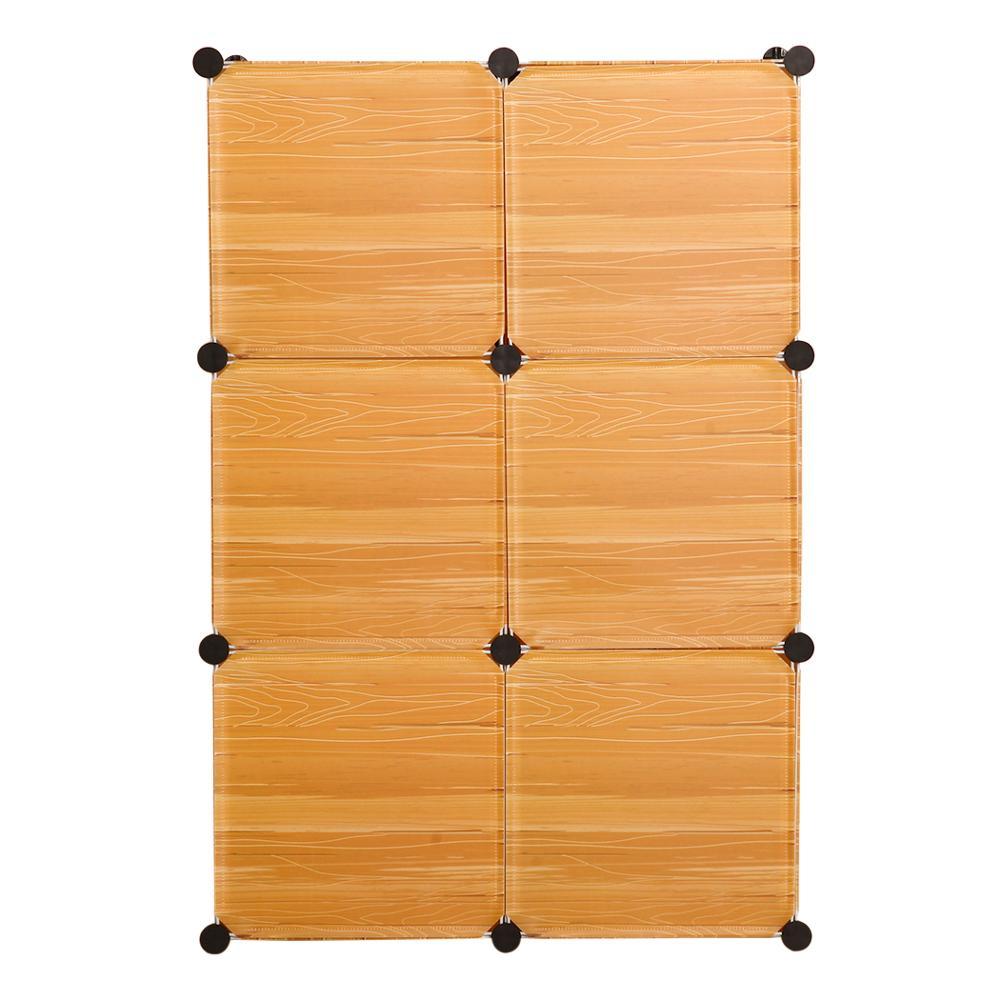 CupboardMulti-function Larger Waterproof  Cabinet DIY Easy Install Reinforcement Shoe Storage Wardrobe Closet Hanging Save Space