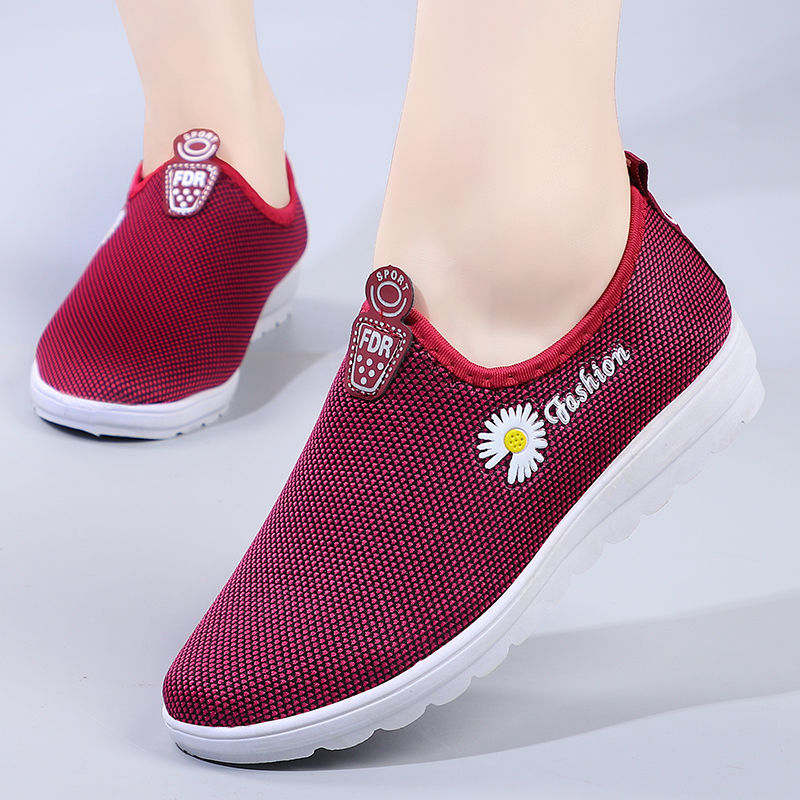 Woman Shoes Breathable Mesh Platform Sneakers Women Slip on Soft Ladies Casual Running Shoes
