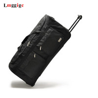 fashion new 3240 Inch super large rolling luggage bag, trolley travel bag canvas,suitcase for unisex, convenient trolley case,