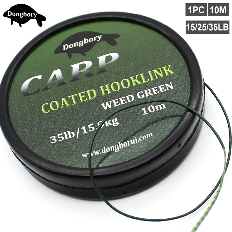 Tackle-Line Hook Link Coated Rigging-Line Wire-Carp Quick-Sinking 10M 15/25-35lb title=