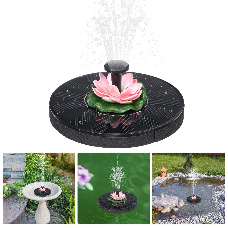 Fuente Solar de agua redonda, fuentes de agua para el hogar, decoración de estanque de jardín, piscina, Baño de aves, cascada, hecho de agua