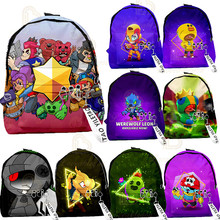 Teens Star Games Hero Figure Model Cartoon Figure Spike Shelly Leon Browl Backpack School Bag Soft Harmless Kids Birthday Gift