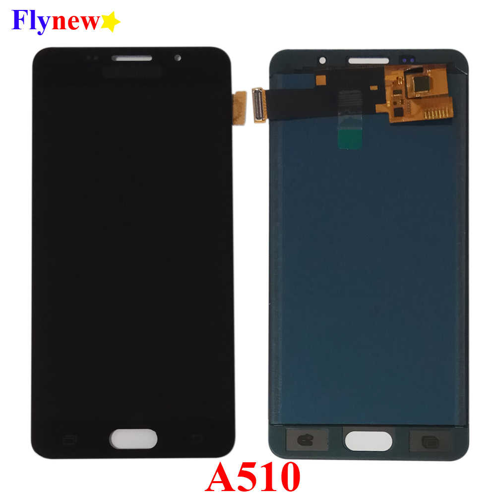Super AMOLED LCD สำหรับ Samsung Galaxy A5 2016 A510 A510F A510M A510FD A5100 จอแสดงผล LCD Touch Digitizer Screen Pantalla Assembly