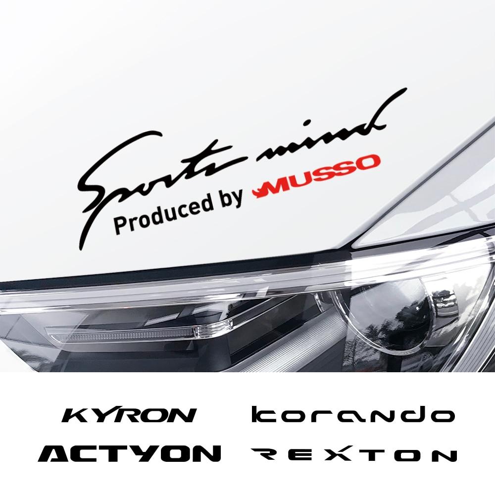 Estilo do carro lâmpada sobrancelha adesivos decalque para ssangyong korando kyron musso rexton tivoli acessórios de decoração do corpo automóvel