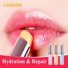 Shipping LANBENA Chameleon Lip Balm Hyaluronic Acid Rose Moisturizing Natural Nourishing Smoothing Long-lasting Care