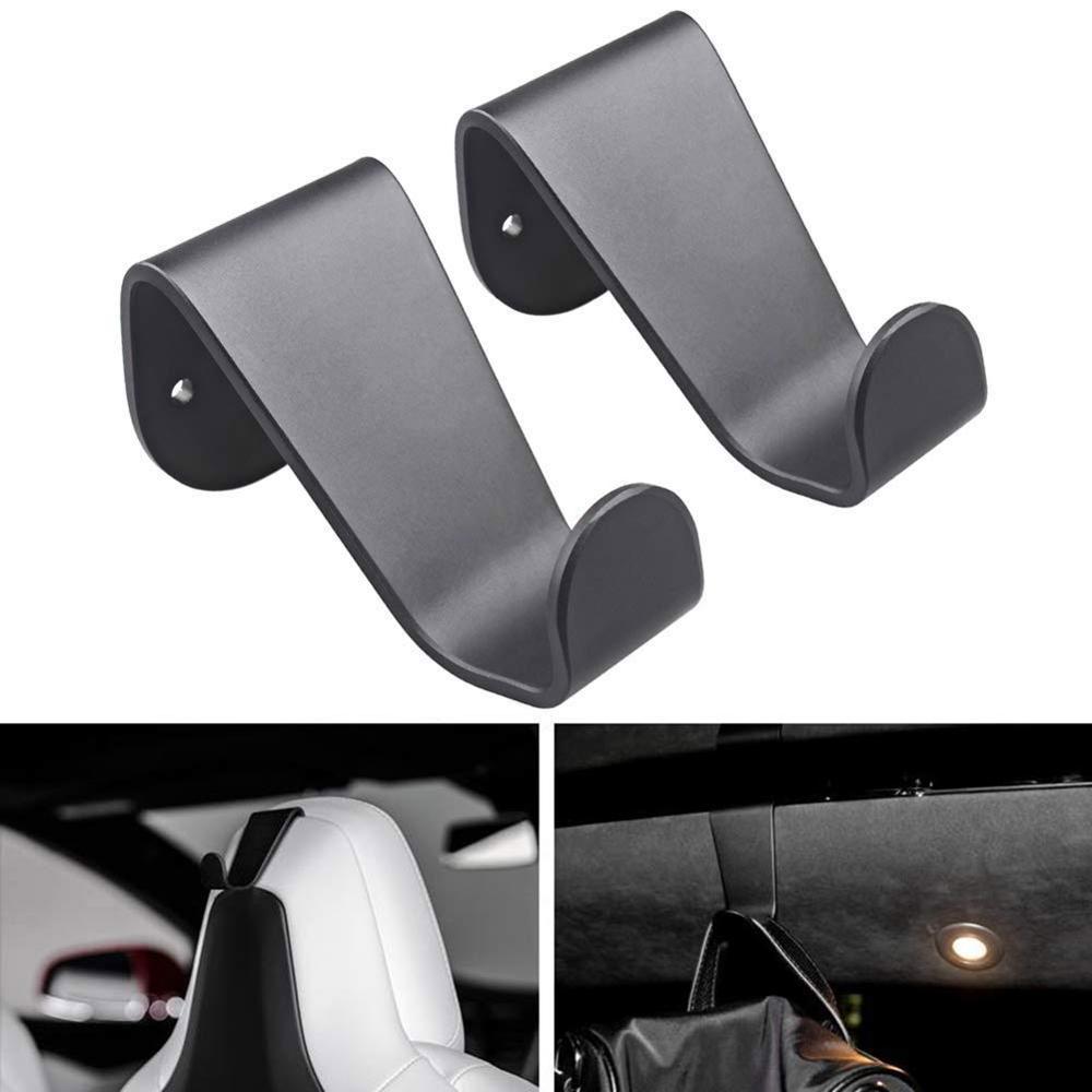 Vehicle Seat Coat Bag Holder Hooks,Seat Headrest Back Hook,Bag Holder Clothes Hangers Designed For Tesla Model S Model X-Set Of2