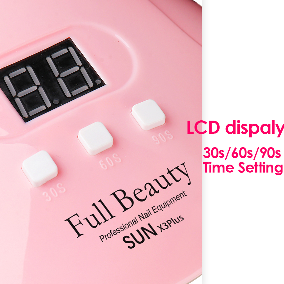 54W UV LED Lamp for Manicure Nail Dryer Machine Pink Bow Lamp For Curing Poly Gel Polish 18leds Sunlight Nail Tools (5)