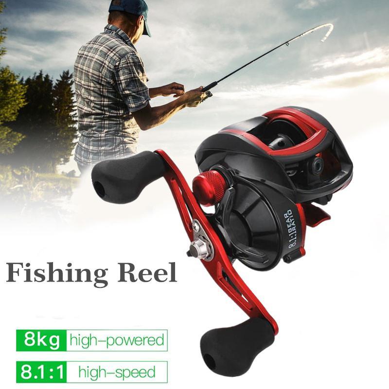 18*1BB Metal Baitcasting Fishing Reel 8.1:1 Long Shot Left / Right Hand Wheel