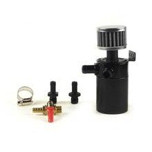 Универсальный 2-Порты и разъёмы маслоуловитель резервуар с дренажный клапан воздушный фильтр компактный тупик Алюминий масляный бак топливный бак части