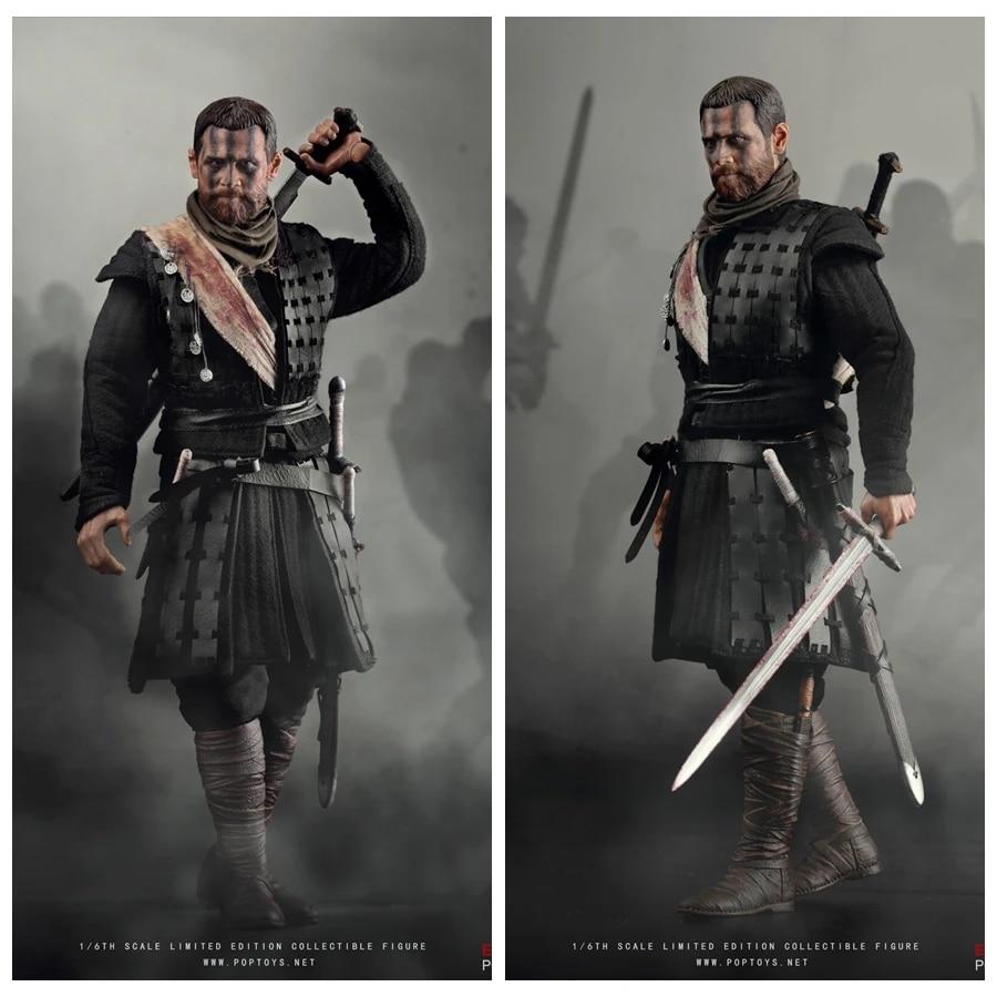 Pre-order 1//6 Scale POPTOYS EX028 Macbeth Action Figure 2 Head Sculpts